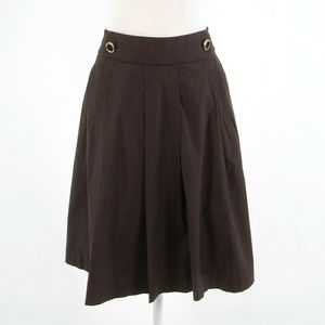 Brown cotton TORY BURCH pleated skirt 2